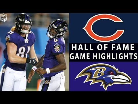 Bears vs. Ravens  NFL 2018 Hall of Fame Game Highlights