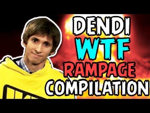 Dendi Best Rampage Compilation WTF Dota 2