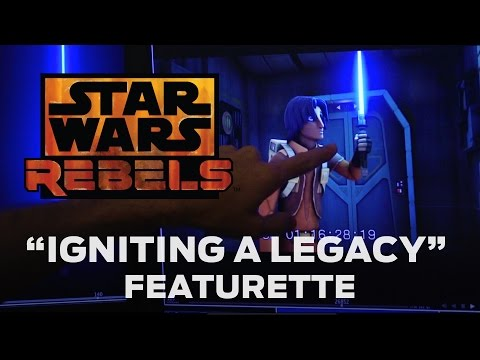 featurette - Star Wars Rebels executive producer Dave Filoni and CG supervisor Joel Aron discuss how they created lightsabers that match the look of Jedi weapons from Star Wars: Episode IV A New Hope. ...