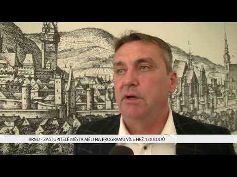 TV Brno 1: 8.11.2017 Zastupitelé města měli na programu více než 130 bodů