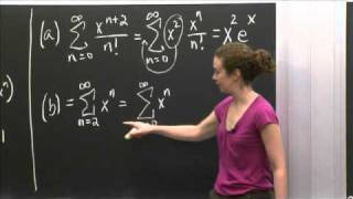 Power Series Practice | MIT 18.01SC Single Variable Calculus, Fall 2010
