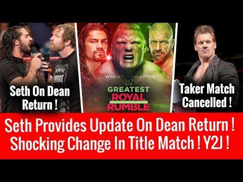 Shocking Title Match Change ! Seth Update On Dean Return ! Ziggler Final Deal ! Jericho On Taker