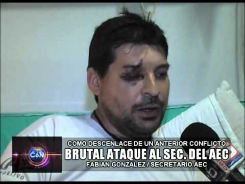 BRUTAL ATAQUE AL SEC. DE AEC  (VIDEO)