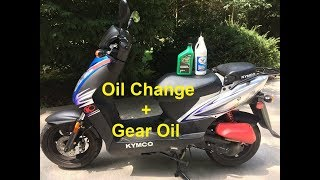 3. Kymco Agility 50 - Oil Change / Gear Oil Change