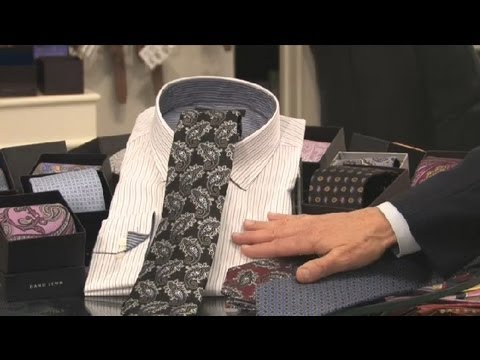 Ties That Go With Black & Grey Striped Shirts : Neckties