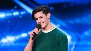 Reuban Gray impresses the judges with his audition (an original song - Lifeline) on Britain's Got Talent.