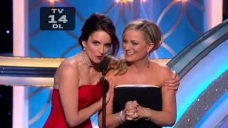 "Tina Fey tells Amy Poehler that she has a ""special place in hell"" - Golden Globe Awards 2014"