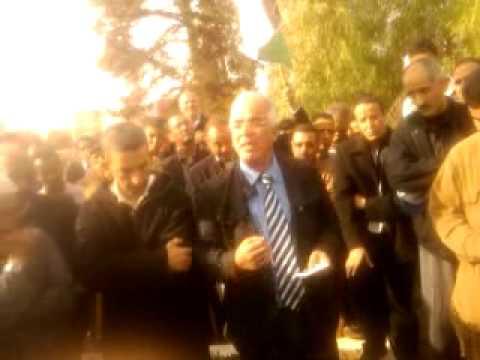 IDRISIA - le mot de camarade miftah membre du bureau politique du psu devant la tombe du camarade elhoussine el idrisi a sidislimane le jeudi 25/11/2010.