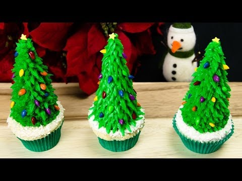 Cookies - How to make easy Christmas tree cupcakes. These are a great dessert for any Christmas party you're going to. Watch our other Christmas videos: http://www.you...
