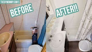 RV Bathroom Makeover on a Budget