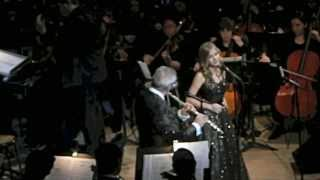 Jackie with James Galway at Carnegie Hall