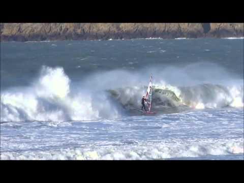 Windsurf plage du Sillon - St Malo - mars 2014