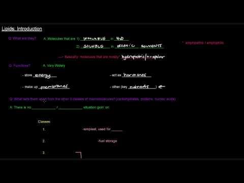 Lipids (Part 1 of 11) - Introduction