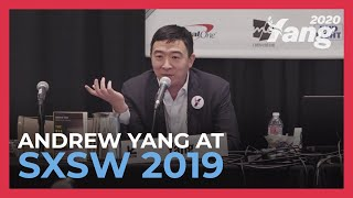 Video Andrew Yang Discusses the Automation of Labor & Universal Basic Income at SXSW 2019 MP3, 3GP, MP4, WEBM, AVI, FLV Agustus 2019