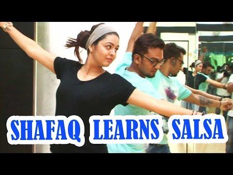 Shafaq Naaz takes Salsa lessons