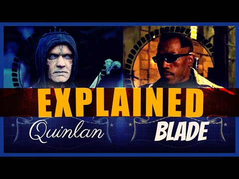What's the connection between Marvel's Blade and Quinlan from The Strain?