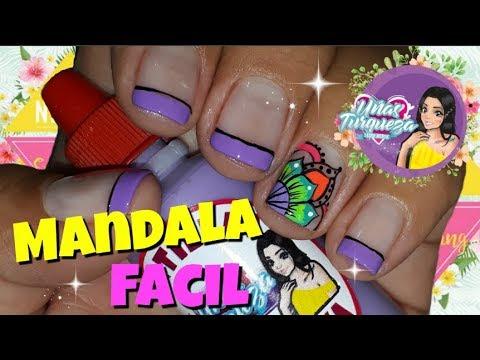 Decorados de uñas - Decoración uñas Mandala/Decoración en Uñas Cortas/Mandala fácil para Uñas