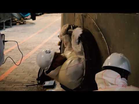 Inspekcja zbiorników w zakładzie papierniczym z wykorzystaniem drona Elios