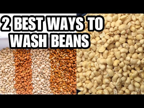 TWO BEST  WAYS TO WASH BEANS//easy  and fast