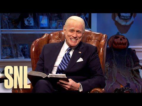 Jim Carrey's Joe Biden gets a spooky, preelection warning from Kate McKinnon's Hillary Clinton on 'SNL'