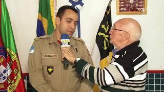 VISITA DO CEL LOYOLA DO CORPO DE BOMBEIROS DE VR NA CASA DE PORTUGAL