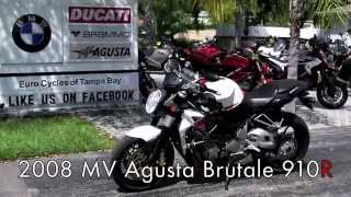 3. Pre-Owned 2008 MV Agusta Brutale 910R White at Euro Cycles of Tampa Bay