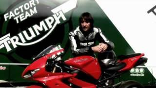 2. The 2010 Triumph Supersport Test Day - David Lopez on the Daytona 675