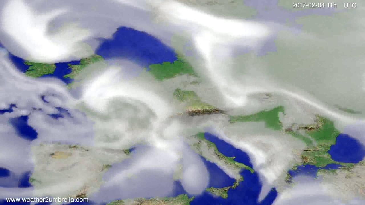 Cloud forecast Europe 2017-02-01