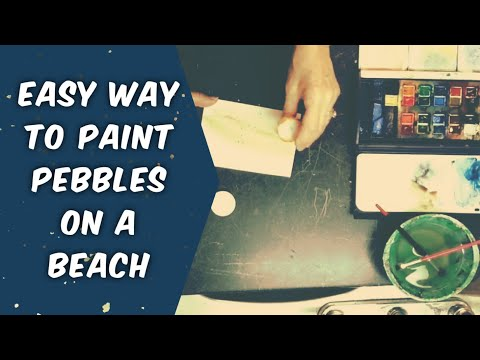How to Paint Pebbles on a Beach with Watercolour or Acrylic Paint