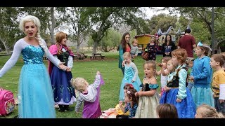 I went to a birthday party that was hosted by Anna & Elsa. They told the story of Frozen and sang everyones favorite songs, including 'Let it Go'. The party ...