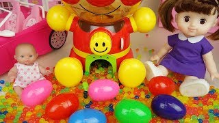 Video Baby doll and Orbeez Surprise eggs candy machine and drink machine toys play MP3, 3GP, MP4, WEBM, AVI, FLV Juni 2017