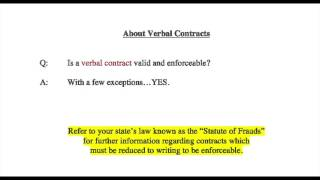 Fast Facts about Contracts