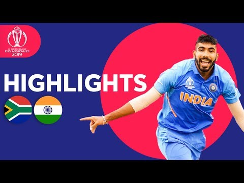 Rohit Hundred Seals Win  South Africa vs India - Match Highlights  ICC Cricket World Cup 2019