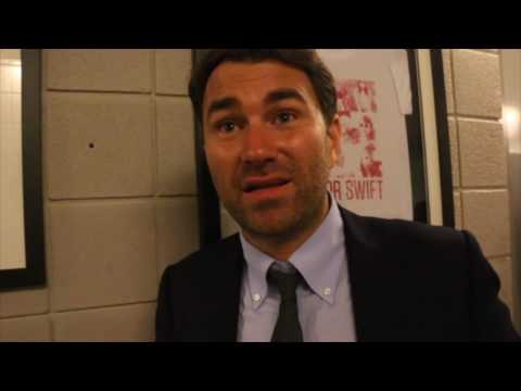 Watch: Eddie Hearn on Joshua v Breazeale, Golovkin v Eubank Jr