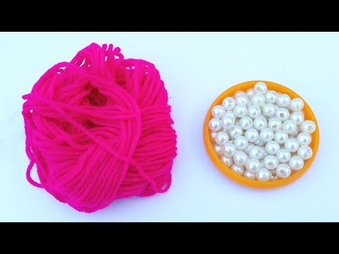 How To Make Designer Pearls Woolen Necklace At Home | DIY | Bridal Necklace | Chokar | Uppunuti Home