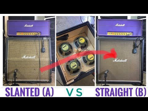 Slanted -vs- Straight Marshall 4x12 using the EXACT SAME SPEAKERS! 1960A -vs- 1960B