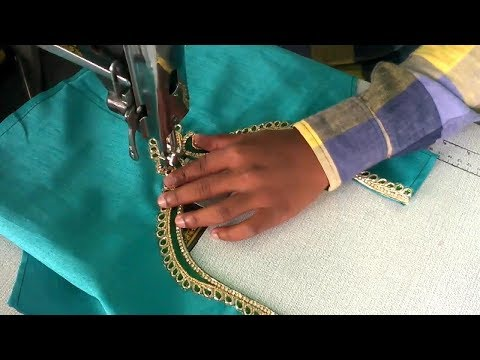Video cutting and stitching of Readymade Neckline to the blouse | tailoring spot download in MP3, 3GP, MP4, WEBM, AVI, FLV January 2017