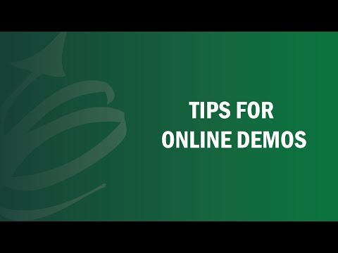 Tips For Online Demos - Remote Leadership Institute