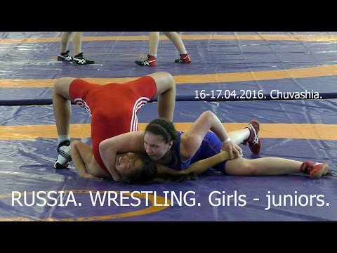 WRESTLING. GIRLS - JUNIORS.  2016.  RUSSIA.   The best moments. (видео)