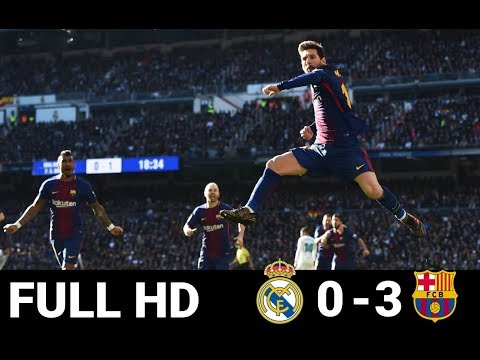 Real Madrid Vs Barcelona 0-3 ● All Goals & Highlights ● 23/12/2017 ● HD