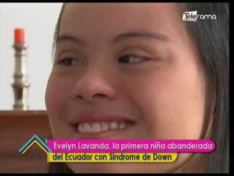 Evelyn Lavanda, la primera niña abanderada del Ecuador con Síndrome de Down