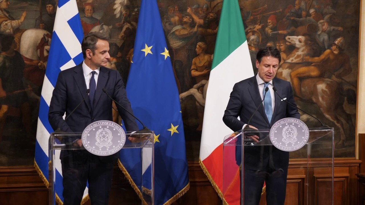 Κοινές δηλώσεις Κυριάκου Μητσοτάκη – Giuseppe Conte