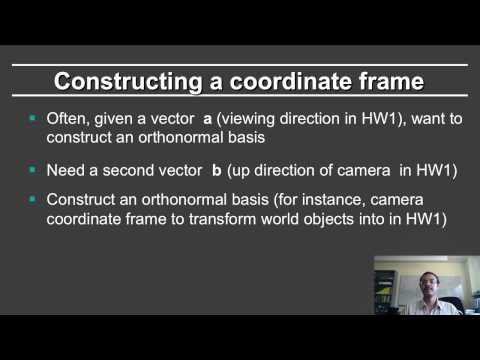 Online Graphics Basic Math: Creating a Coordinate Frame