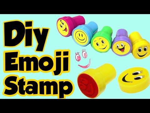 Diy Emoji Stamp -Homemade stamp making idea/How to make stamps at home/Homemade Stamp/Make Diy Stamp
