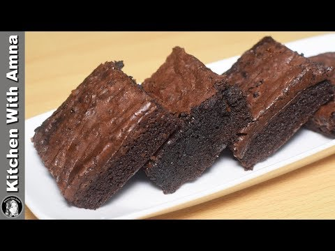 The Best Fudgy Brownie Recipe Without Oven - How to make Brownies - Kitchen With Amna