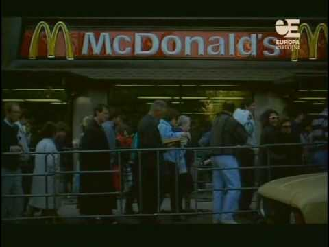 First Mcdonalds to Open In Moscow in 1990.