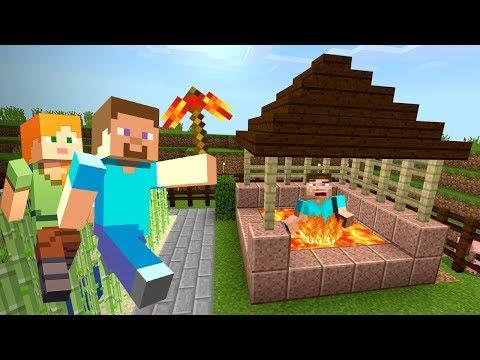 СКИНУЛ ГРИФЕРА в БЕЗДОННЫЙ КОЛОДЕЦ с ЛАВОЙ в МАЙНКРАФТ ВЫЖИВАНИЕ!! (Minecraft #9) (видео)