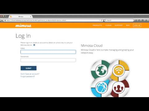 How to set up a Mimosa Cloud Account