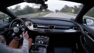 Video Audi A8L vs Motocyclist some fun on german autobahn onboard POV real life story MP3, 3GP, MP4, WEBM, AVI, FLV Februari 2019