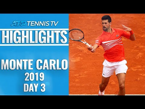 Djokovic And Coric Survive, Cilic And Wawrinka Knocked Out   Monte-Carlo 2019 Highlights Day 3